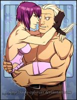 Motoko and Batou by lady-cybercat