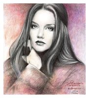 Katie Holmes drawing by dh6art
