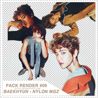 [PACK RENDER#9] BAEKHYUN - NYLON MAGAZINE by DTD12