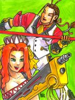 Sketchcard PXZ Kogoro and Mii by fedde