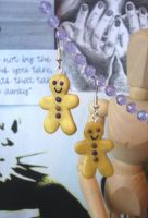 Gingerbread Men Earrings by elleira5jewellery