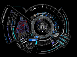 Iron Man HUD Jarvis Blue 1.0 by Mitra0000