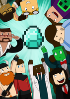 Minecrafters Poster by stephie-anna
