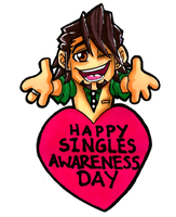 Happy Singles Awareness Day 2014 by Hades-O-Bannon