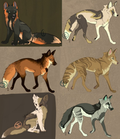 Free adopts -ALL TAKEN by Ticklebutt