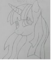 Beautiful Twilight Sparkle Sketch by Golden-Freddy-1337