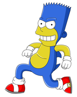 Bart as Sonic the Hedgehog by TokeiTime