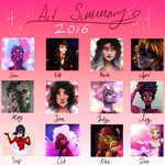 Art Summary 2016 by happy-little-ghost