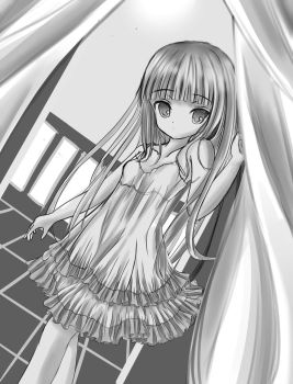 Girl stand near a window by Kudo008