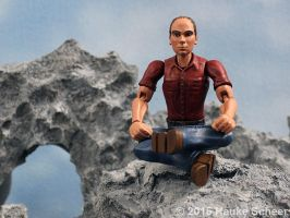 Portrait Figure 3D printed cross legged by hauke3000