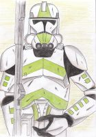 Clone trooper on guard by Funtimes
