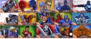 Captain America Sketch Cards 2 by chris-foreman
