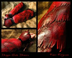 Dragon Scale Bracers by farmerownia