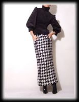 Black Blouse Check LongSkirt2 by yystudio