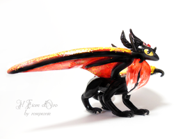 Red Fox Dragon 2 by rosepeonie