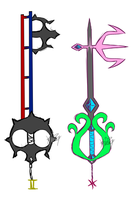 Sollux and Feferi keyblade by MissKvitulven