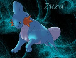 Zuzu the Mudkip by SombraStudio