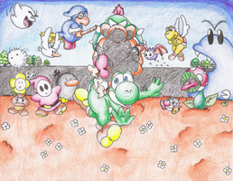 Race to the Goal. by PrincessYoshi