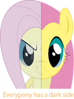 Both sides of Fluttershy by flutterfanUKOFE