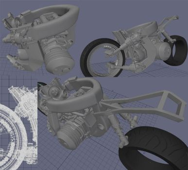 WIP :: uBike modeling06 by wh6b