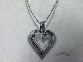 Metal Heart Pendant by PencilRick