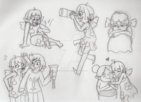 Aryll Sketches by LittleGreenHat