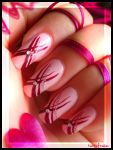 ribbons nails by Tartofraises