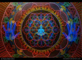 Mandala Abhasa (Holographic - Dim Lighting) by TravisAitch