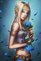 Blue Rose by Pechan