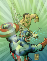 Captian America #365 Homage Colour by Nick-OG