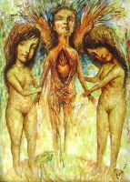 two girls and the angel body by inner