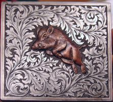 Wild boar inlay with Ornaments by Woolf20