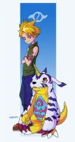Matt and Gabumon by Tvonn9