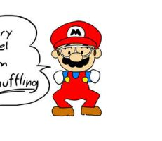 Mario is Shuffling by Almoyan