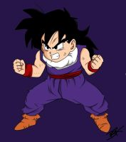 Collab: Kid Gohan by obsessive-fan-girl