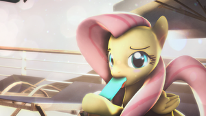 Fluttershy's popsicle by Starstrike42896