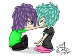 Felixu and C(Me) (Redo) by donuttouch