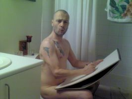 Sketching on the Crapper by JJShaver