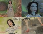 Alice Madness Returns - Black and White Striped by MissCreamBerry