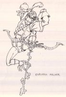 Electric Archer from The Pirates of Enlightenment by JoeOtisCostello