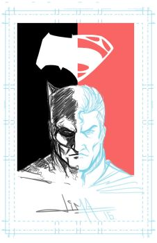 Batman V Superman Rough Poster by rubenslima