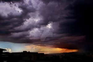 Storm Rolling Into Town by cagurl23