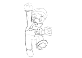 Mario - The classic pose by mechris445