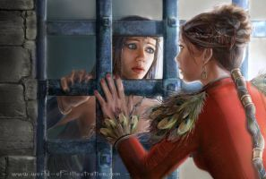 Ravenn in jail with her sister by laura-csajagi
