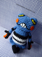 Art trade- Croagunk Pokedoll by Rainbowbubbles