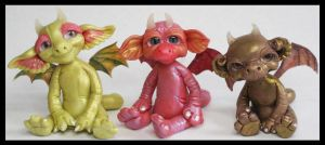 Polymer Clay Littles Fantasy Creatures by KabiDesigns
