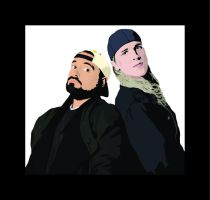 Jay and Silent Bob by garrett-btm