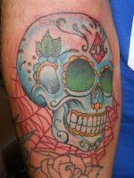 Sugar Skull Tattoo by SuperSibataru