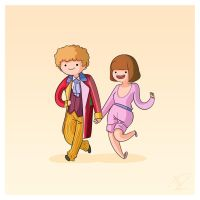 Adventure Time and Space! Sixth Doctor by Blizarro