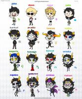 Homestuck Beta Chibis by Malfey